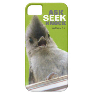 Bible Verse iPhone 5 Case: Matthew 7:7 iPhone 5 Covers