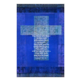 Bible Verse Isaiah 40:-31 contemporary Christian Stationery