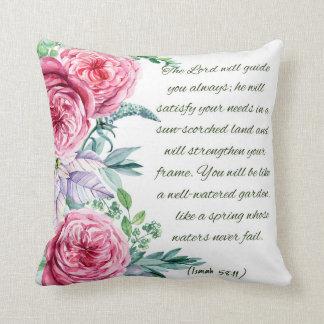Bible Verse Isaiah 58:11 Cushion