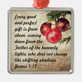 Bible Verse James 1:17 Christmas Ornament