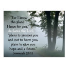 Bible Verse Jeremiah 29:11 Custom Postcard