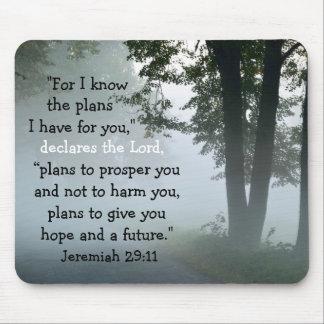 Bible Verse Jeremiah 29:11 Mousepad