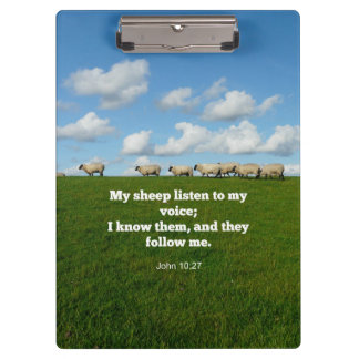 Bible verse, John 10:27, My sheep... Clipboard