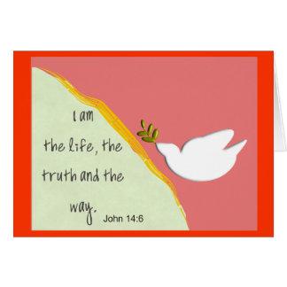 Bible Verse John 14:6 Notecards Card