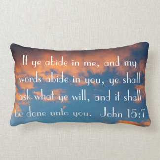 bible verse John 15:7 prayer Lumbar Cushion