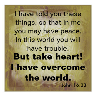 Bible verse John 16:33 Poster