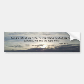 Bible Verse John 8:12  Bumper Sticker