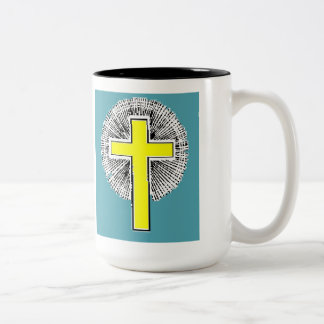 Bible Verse Josh 1:9 Two Tone Coffee Mug