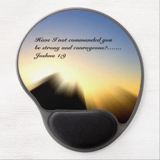Bible Verse Joshua 1:9 Gel Mousepad