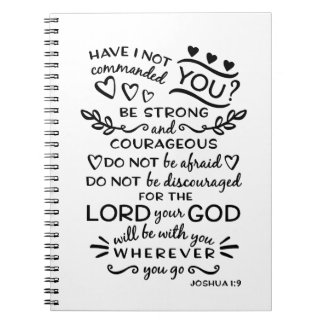 Bible Verse Joshua 1:9 Notebook