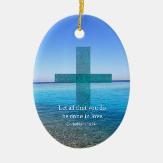 BIBLE VERSE - Let all that you do be done in love Christmas Tree Ornament