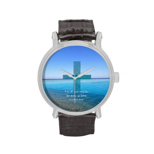 BIBLE VERSE - Let all that you do be done in love Wristwatches