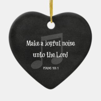 Bible Verse: Make a Joyful Noise Ornaments