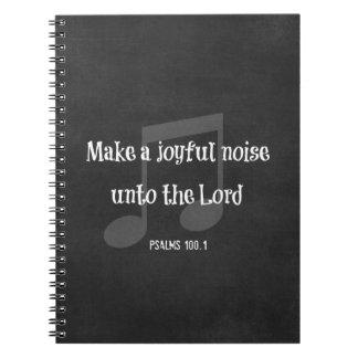 Bible Verse: Make a Joyful Noise Note Book