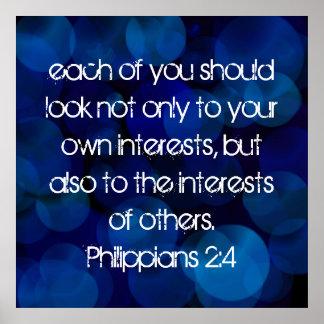 Bible verse Philippians 2:4 Poster