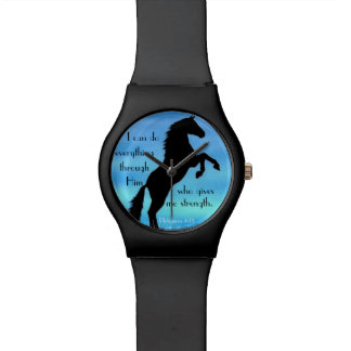 bible verse Philippians 4:13 horse Watch