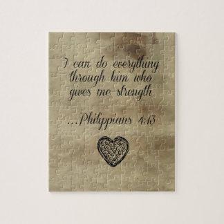 Bible Verse Philippians 4:13 Jigsaw Puzzle