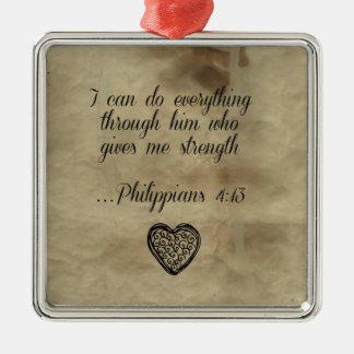 Bible Verse Philippians 4 13 Ornaments
