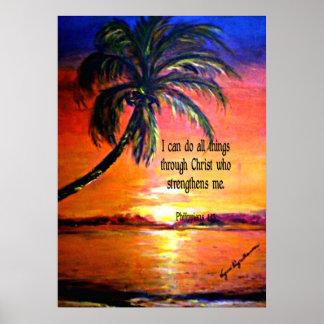 Bible verse, Philippians 4:13 Poster