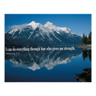 Bible Verse Phillipians 4:13 Poster