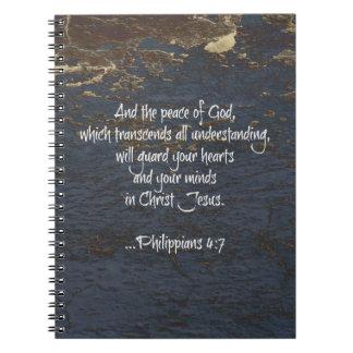 Bible Verse Phillippians 4:7 Spiral Notebook