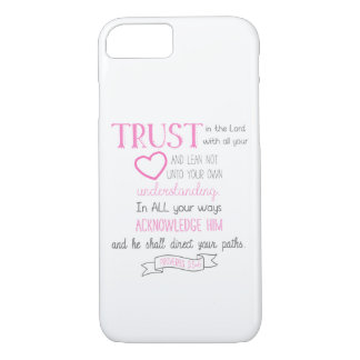 Bible Verse Phone Case Proverbs 3:5-6