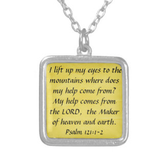 bible verse Psalm 121:1-2 Silver Plated Necklace