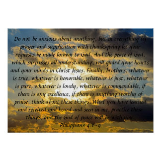 bible verse reminder Philippians 4 6-9 Posters