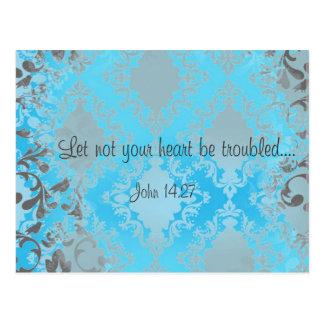 Bible Verse Scripture Let Not Your Heart Be Postcard