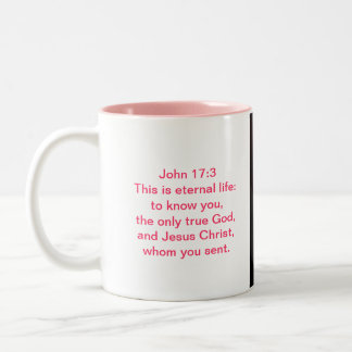 Bible Verse Scripture Photo Mug With African Viole