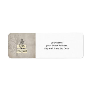 Bible Verse: The Lord is my Light and my Return Address Label