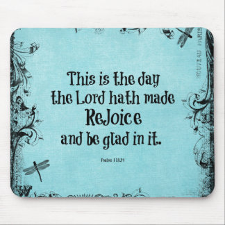 Bible Verse This is the Day the Lord hath Made Mouse Pad