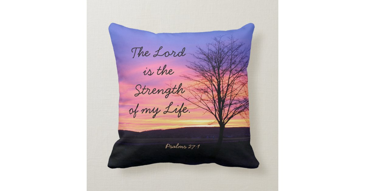 Decorative Pillows With Scripture : Bible Verse Throw Pillow Cushions Zazzle