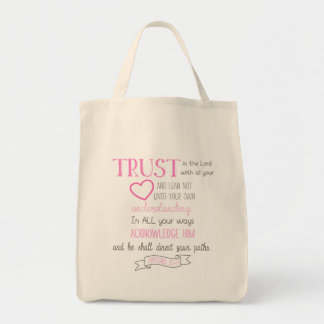 Bible Verse Tote Bag Proverbs 3:5-6