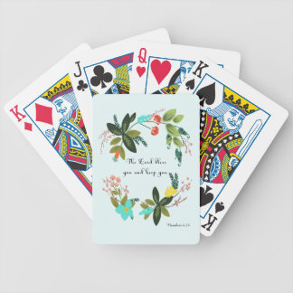 Bible Verses Art - Numbers 6:24 Bicycle Playing Cards