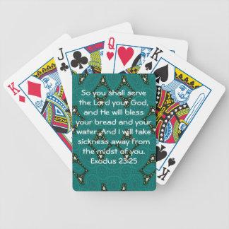 Bible Verses Healing Scripture Quote Exodus 23:25 Poker Deck