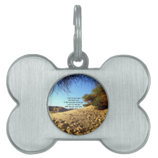Bible Verses Inspirational Quote Psalm 32:8 Pet ID Tags