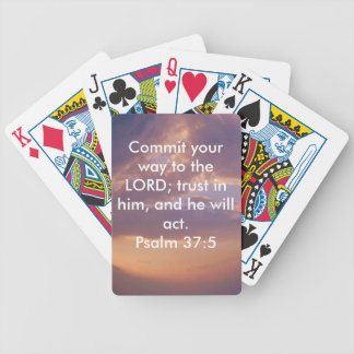 Bible Verses Motivational Scriptures Psalm 37:5 Bicycle Playing Cards