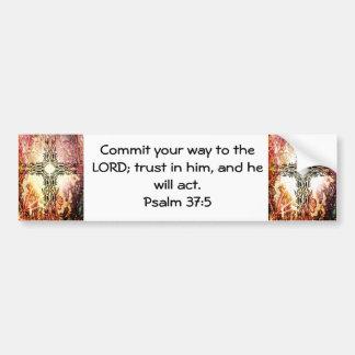 Bible Verses Motivational Scriptures Psalm 37:5 Bumper Sticker