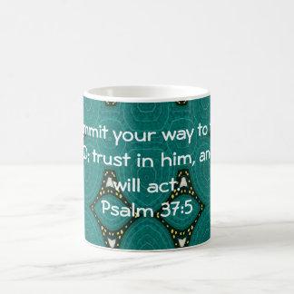 Bible Verses Motivational Scriptures Psalm 37:5 Coffee Mug