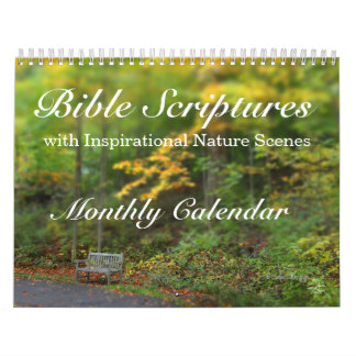 Bible Verses Scripture Inspirational Nature Scenes Wall Calendars