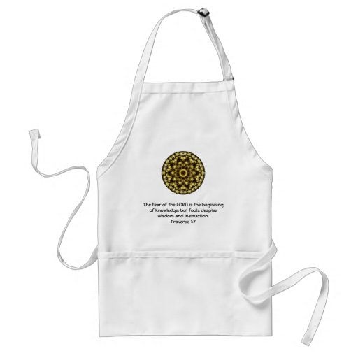 Bible Verses Wisdom Quote Saying Proverbs 1:7 Apron