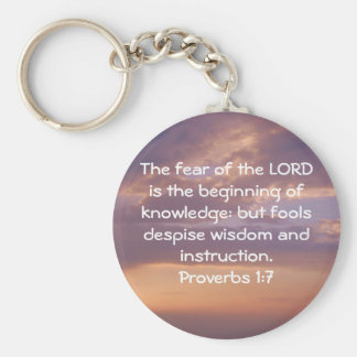 Bible Verses Wisdom Quote Saying Proverbs 1:7 Key Ring