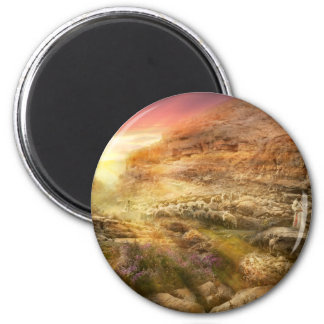 Bible - Yea, though I walk through the valley 1920 6 Cm Round Magnet