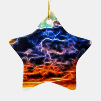 Biblical Electrified Cumulus Clouds Skyscape Ceramic Ornament