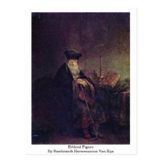 Biblical Figure By Rembrandt Harmenszoon Van Rijn Postcard