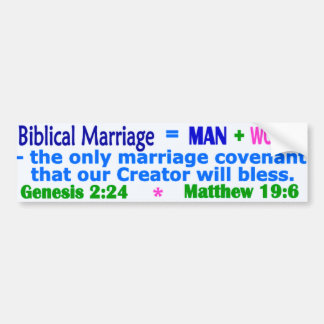 Biblical Marriage Bumper Sticker