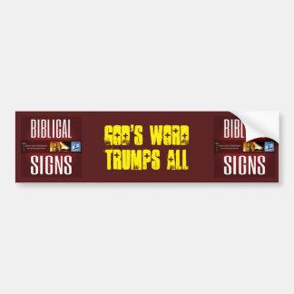 "Biblical Signs 2018 ""God's Word"" Bumper Sticker"