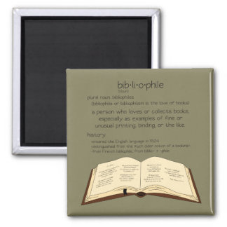 Bibliophile - Choose Color Magnet