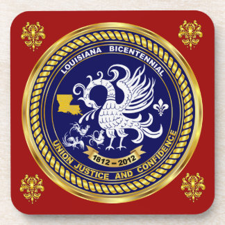Bicentennial Louisiana Mardi Gras Party See Notes Beverage Coaster